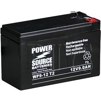 Amazon WP9 12 Sealed AGM 12v 9 Ah Battery T2 250 Terminals