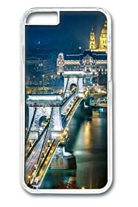 For Iphone 5C Case Cover; Covers -Szechenyi Chain Bridge Budapest Polycarbonate Hard Case Back For Iphone 5C Case Cover Transparent