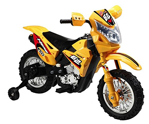 battery operated 6v kids dirt bike yellow kids cars. Black Bedroom Furniture Sets. Home Design Ideas