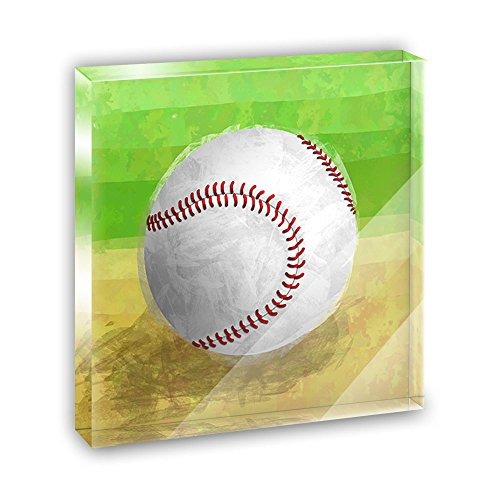 Baseball Acrylic Office Mini Desk Plaque Ornament Paperweight