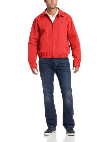 U.S. POLO ASSN Men's Micro Golf Jacket with Polar Fleece ...