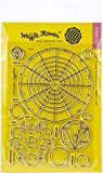 Waffle Flower Crafts 271191 Clear Stamp 5'X7'-Color Wheels