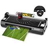 4 in 1 Blusmart OL288 Laminator, A4, Rotary Trimmer/Corner Rounder/10 Laminating Pouches, Black