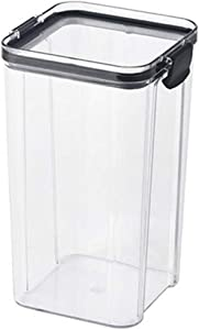 schicj133mm Airtight Food Storage Container Set - Kitchen & Pantry Organization Containers - BPA-Free - Clear Plastic Canisters for Flour, Cereal with Improved Lids L