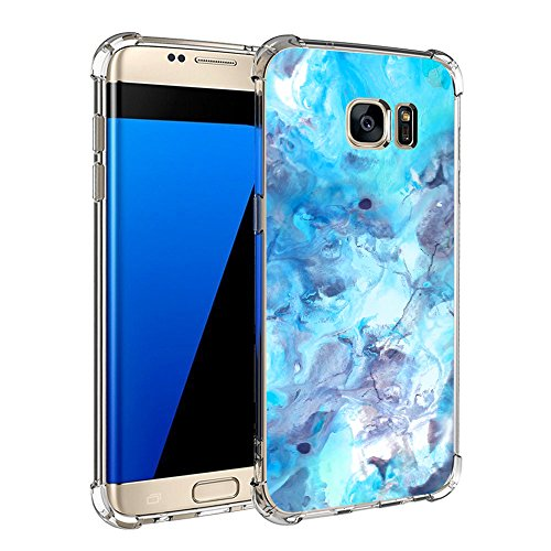 Price comparison product image Beryerbi Samsung Galaxy s7/s7 Edge Case Ultra Slim Marble Pattern Soft TPU Air Cushion Durable Protective Cover (Galaxy s7 Edge, 7)