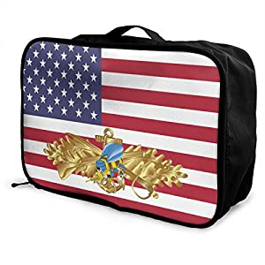 Colored Seabee Travel Lightweight Waterproof Foldable Storage Carry Luggage Duffle Tote Bag