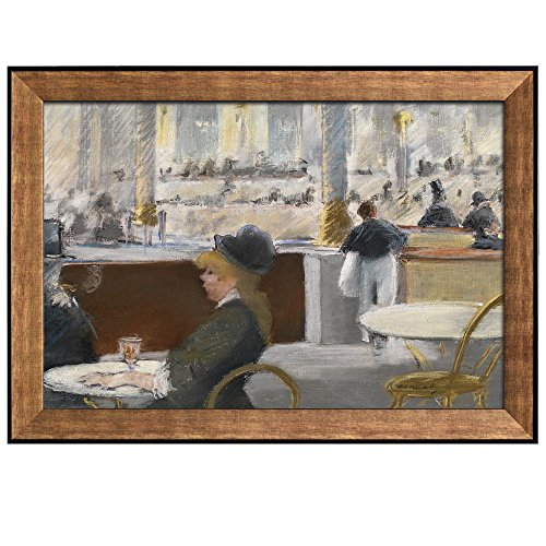 Interior of a Cafe by Edouard Manet Framed Art