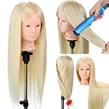 """Neverland Beauty 26"""" 50% Real Human Hair Professional Training Head Hairdressing Styling Practice Cosmetology Mannequin With Table Clamp Stand 613#"""