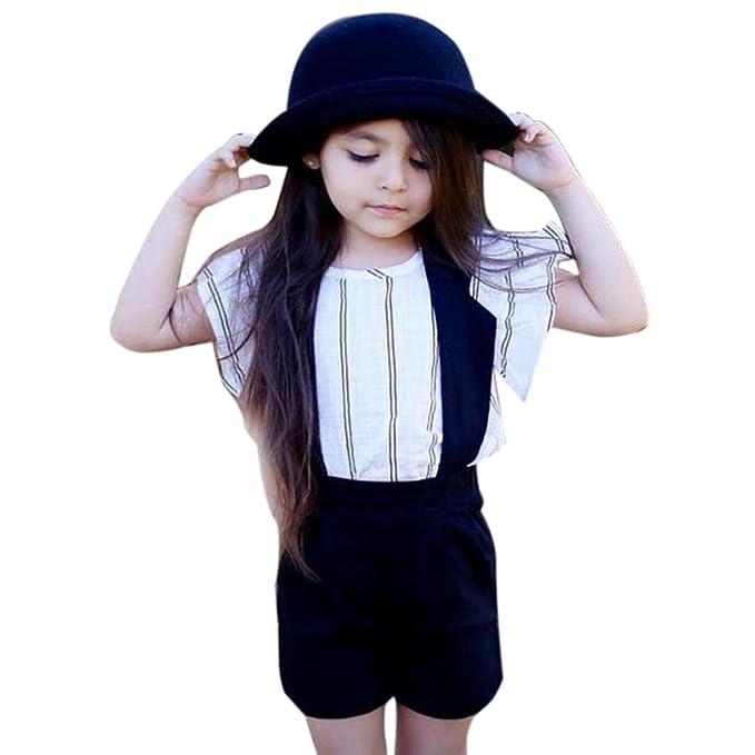 Vestidos niñas, Switchali Niños Bebé Niña Verano moda blusas chaleco floral camisa + Pantalones cortos