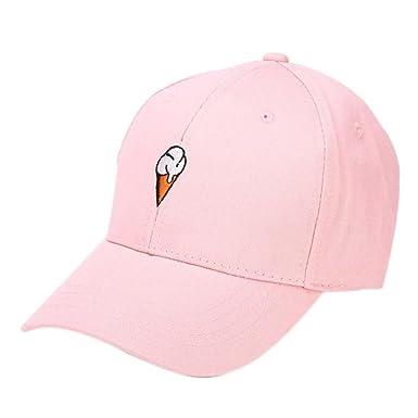 2443fa8d Kanpola Women Embroidery Cotton Baseball Cap Boys Girls Snapback Hip Hop Flat  Hat Pink: Amazon.co.uk: Clothing