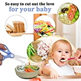 Love&Mini Premium Safety Portable Cutter - Ceramic Scissors Healthy Baby Food Scissors