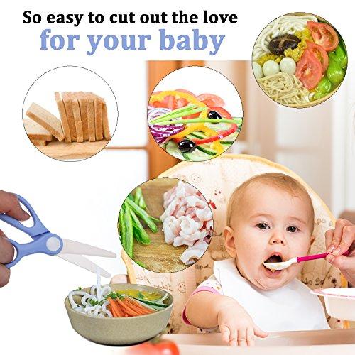 Love&Mini Premium Safety Portable Cutter - Ceramic Scissors Healthy Baby Food Scissors by Love&Mini