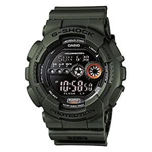 Casio G-SHOCK Reloj Digital, 20 BAR, Verde, para Hombre, GD-100MS-3ER 9