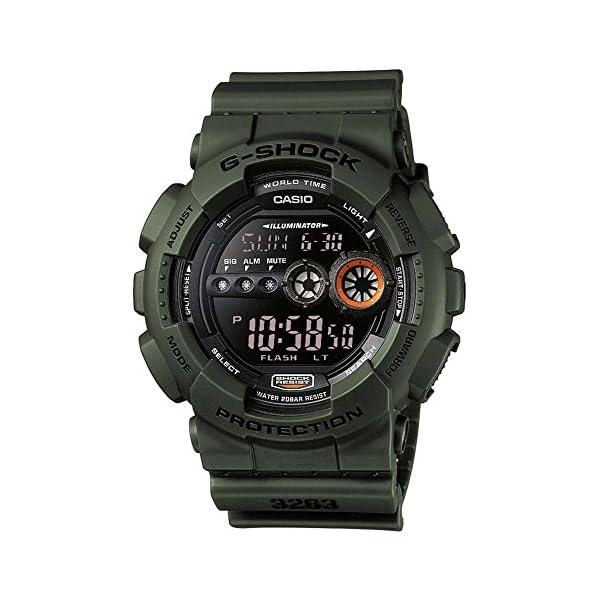 Casio G-SHOCK Reloj Digital, 20 BAR, Verde, para Hombre, GD-100MS-3ER 2