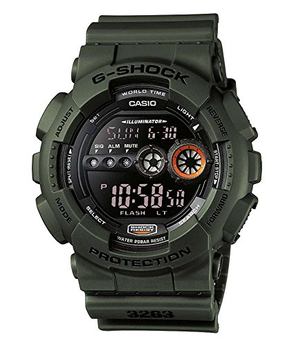 Casio G-SHOCK Reloj Digital, 20 BAR, Verde, para Hombre, GD-100MS-3ER 1