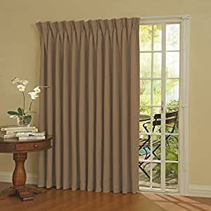 Eclipse 12109100X084WHT Thermal 100-Inch by 84-Inch Blackout Single Patio Door Curtain Pane, Wheat