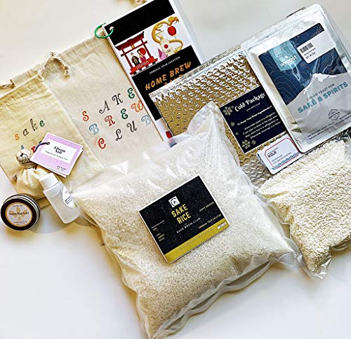 Sake Kit from Sake Brew Club to make 2 Gallon Authentic and Premium Japanese Sake with Effortless Instructions and All the Ingredients including Handmade Koji, Highly Polished Rice, Sake Yeast