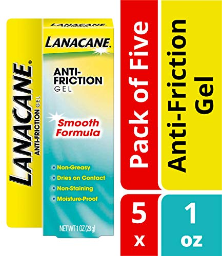 Lanacane Anti-Friction Gel- Helps Prevent Painful Skin Irritation Caused By Friction, Pain Relief From Irritated Areas, Gives Skin Lasting Silkiness, 1 oz. (Pack of 5)