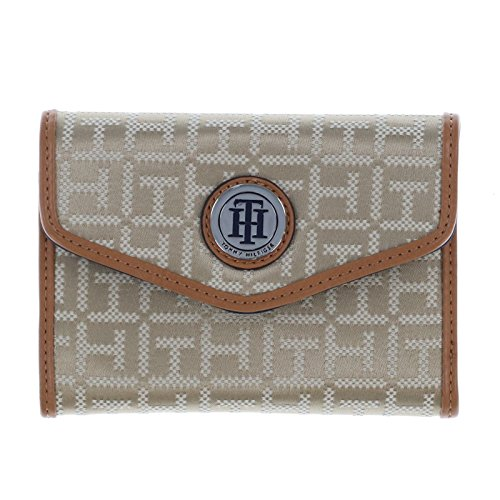 Tommy Hilfiger Womens Trifold Wallet in Tan