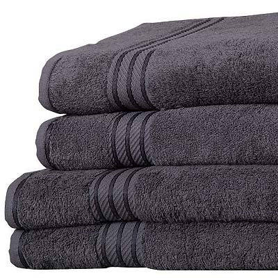 -[ Linens Limited Supreme 100% Egyptian Cotton 6 Piece Hotel Towel Set, Charcoal  ]-