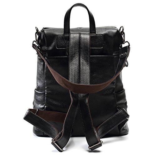 ALI VICTORY - Bolso mochila  para mujer Medium negro