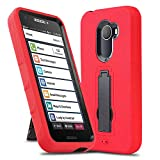 Phone Case for [Jitterbug Smart 2 (GreatCall)], [Impact Series][Red] Shockproof [Easy Grip] Dual Layer Hybrid Defender Cover with [Built-in Kickstand] for Jitterbug Smart 2 (GreatCall) (Red)