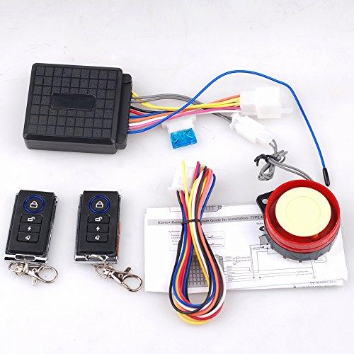 CISNO ATV Security Kit Alarm System for 50CC-125CC Taotao Kazuma Roketa Sunl Anti-Theft with Dual Remote Controller ()