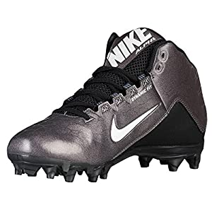 Nike Mens Alpha Strike 2 Three-Quarter Football Cleat Black/Dark Grey/White Size 10 M US