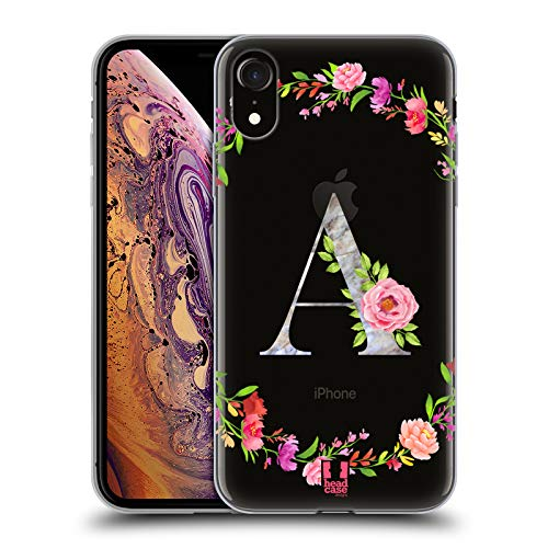 Head Case Designs Letter A Decorative Initials Soft Gel Case for iPhone XR