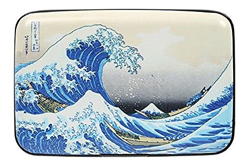 Fig Design Group Women's Fine Art Identity Protection Rfid Wallet - Hokusai Wave by Fig Design Group