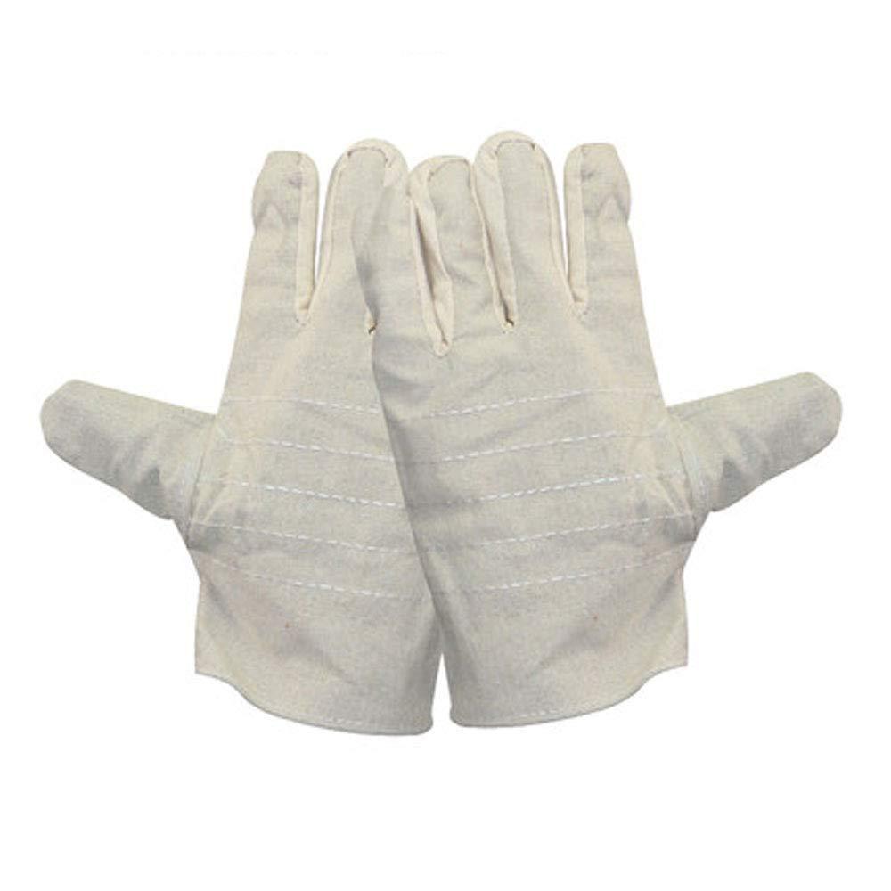 BFQY FH Guanti di Tela A Doppio Strato, Assicurazione Antinfortunistica sul Lavoro (colore   A)