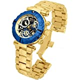 Invicta Men's Quartz Watch with Multicolour Dial Chronograph Display and Gold Stainless Steel Plated Bracelet 15021
