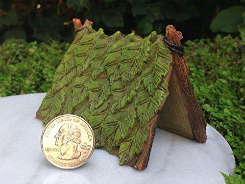 Fairy Garden Figurine Miniature Dollhouse FAIRY GARDEN Gnome Furniture ~ Resin Green Leaf Tent Trimiurti online-store by Fairy Garden Figurine