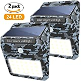 : 24 LED Solar Light , 2 Pack Soft Digits Motion Sensor Solar Lights Auto On/Off , Wireless Solar Powered Lamp Night Security Light Waterproof Wall Light Outdoor for Driveway Patio Garden Path Deck