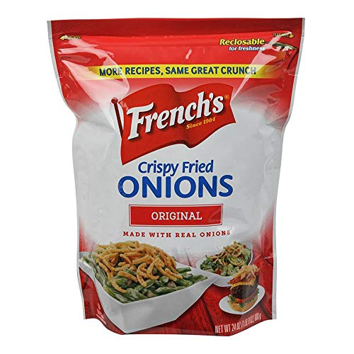 Durkee/French's - Fried Onions - The Original Rings - 24 Ounces (Pack of 6 Reclosable Bags)