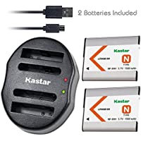 Kastar Battery (X2) & Dual USB Charger for Sony NP-BN1 NPBN1 BC-CSN and Cyber-shot DSC-QX10 QX30 QX100 DSC-TF1 DSC-TX10 TX20 DSC-TX30 DSC-W530 DSC-W570 DSC-W650 DSC-W800 DSC-W830 Digital Camera +More