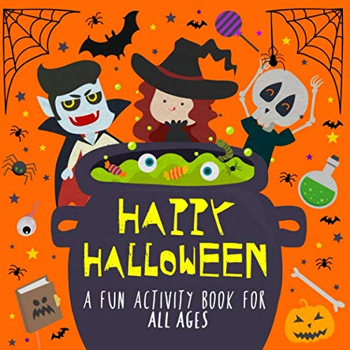 Happy Halloween!: A Fun Activity Book for Kids and Halloween Lovers! ()