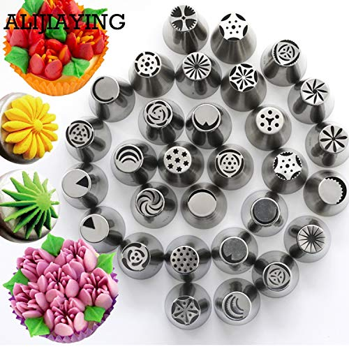 1 piece A109 1PCS Stainless Steel Russian Tulip Icing Piping Nozzles Pastry Tips Cake Decorating Tools for the Kitchen Baking wholesale