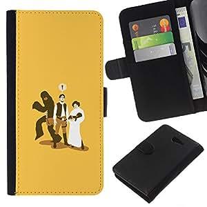 - CHEATING MONKEY FUNNY MARRIAGE BABY - - Prima caja de la PU billetera de cuero con ranuras para tarjetas, efectivo desmontable correa para l Funny House FOR Sony Xperia M2