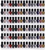 Sooyee 66-90 Bottles 6 Pack Clear Acrylic Shelf Nail Polish Rack Salon Hanging Wall Display Storage Rack,6 pcs Acrylic Floating Wall Mount Ledges Mounted Organizer Makeup Shelves (5MM Thickness)