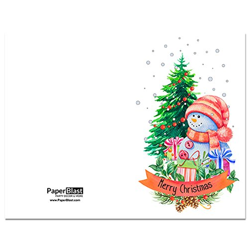 Amazon.com: Snowman Merry Christmas and Happy New Year Card - with ...