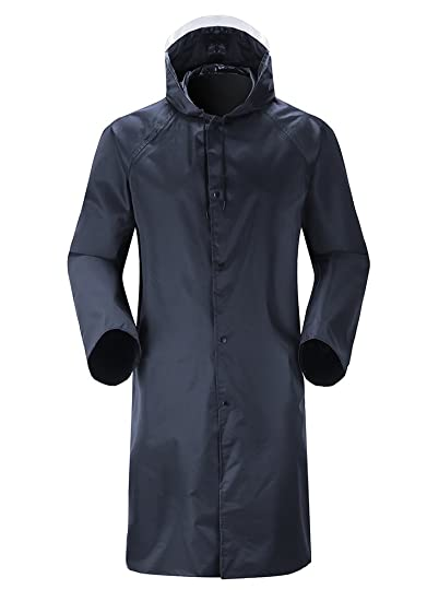 2bea1e31b Insun Men's Long Raincoat with Hood Waterproof Lightweight Long Rain ...