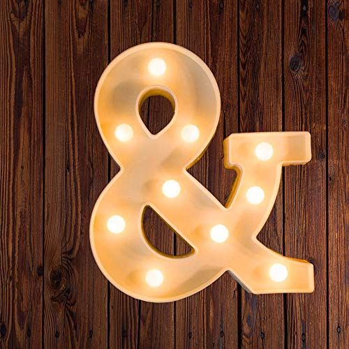 LED Marquee Number Lights Sign Light Up Marquee Letter Lights Sign for Night Light Wedding Birthday Party Battery Powered Christmas Lamp Home Bar Decoration &