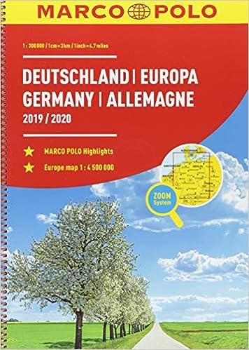 Marco Polo Reiseatlas Deutschland 2019 2020 1 300 000 Europa 1 4 500 000 Marco Polo Reiseatlanten Amazon De Bucher