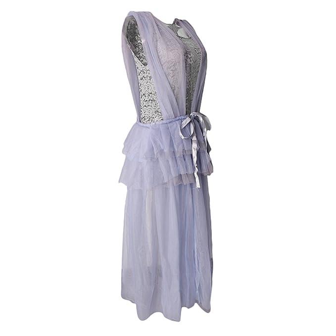 Magideal Vestido Maxi Foto Abierto Split Frente Vestido Photoshoot Mujeres Embarazadas Sesión de Fotos - gris
