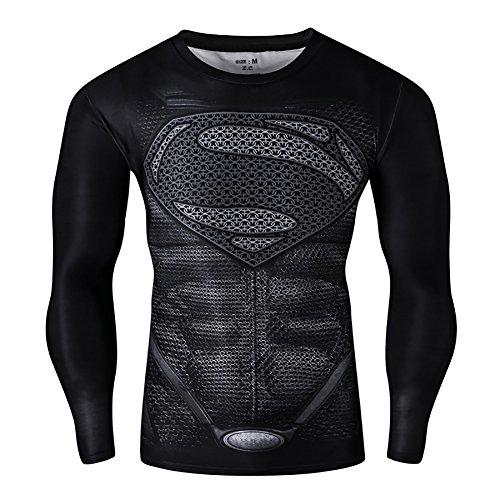 Fitness Workout Clothes (Men's Compression Long Sleeve Running Fitness Workout Base Layer Shirt (XL,)