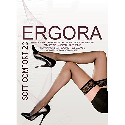 ergora – Medias (autosujeción) –�?0 Los – Soft Comfort 20 # 100669 – Stay UPS Make Up