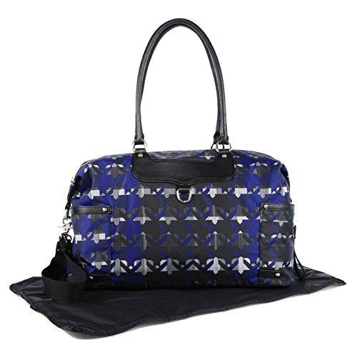 Rebecca Minkoff Kendra Baby Bag, Royal Blue Print