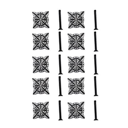 (Iron Cabinet Knob Pewter Finish Target Design Cabinet Hardware Pack Of 10)