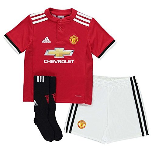Adidas Mini Mesh Shorts - 2017-2018 Man Utd Adidas Home Little Boys Mini Kit